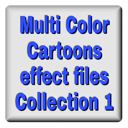 Multi color Cartoons effects file collection 1